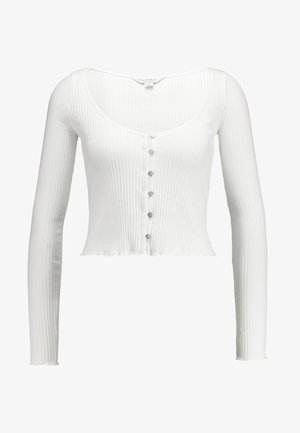 SKINNY  - Top sdlouhým rukávem - white
