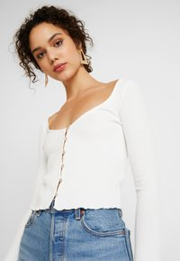 Miss Selfridge - SKINNY  - Camiseta de manga larga - white - 3