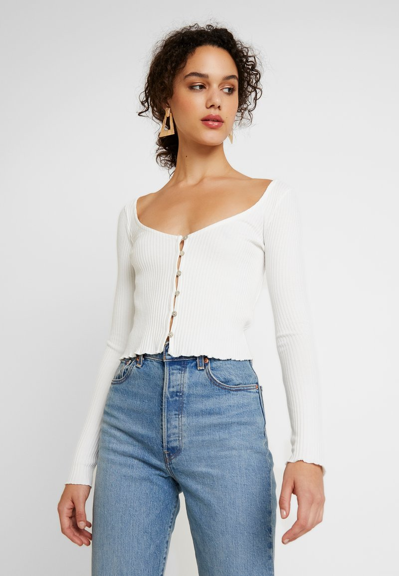 Miss Selfridge - SKINNY  - Camiseta de manga larga - white