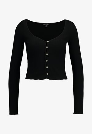 SKINNY  - Long sleeved top - black