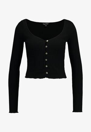 SKINNY  - T-shirt à manches longues - black