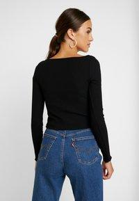 Miss Selfridge - SKINNY  - T-shirt à manches longues - black - 2