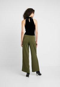 Miss Selfridge - FUNNEL NECK CROP - Top - black - 2
