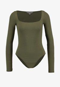 Miss Selfridge - SQUARE NECK BODY - Maglietta a manica lunga - khaki - 3