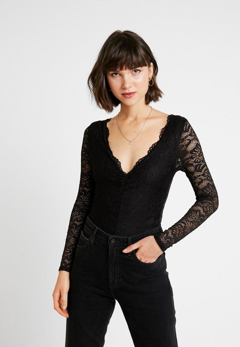 Miss Selfridge - T-shirt à manches longues - black
