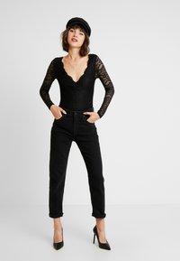 Miss Selfridge - T-shirt à manches longues - black - 1
