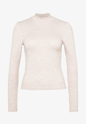 BRUSHED PUFF SLEEVE - Jumper - pink