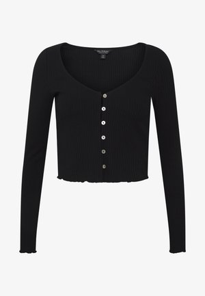 BUTTON THROUGH - Cardigan - black