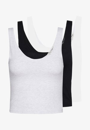 SCOOP CROP 3PACK - Topper - black/white/grey