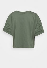 Miss Selfridge - BRODERIE TEE - Blouse - khaki - 1