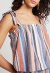 Miss Selfridge - STRIPE TIE SHOULDER CAMI - Bluse - brown