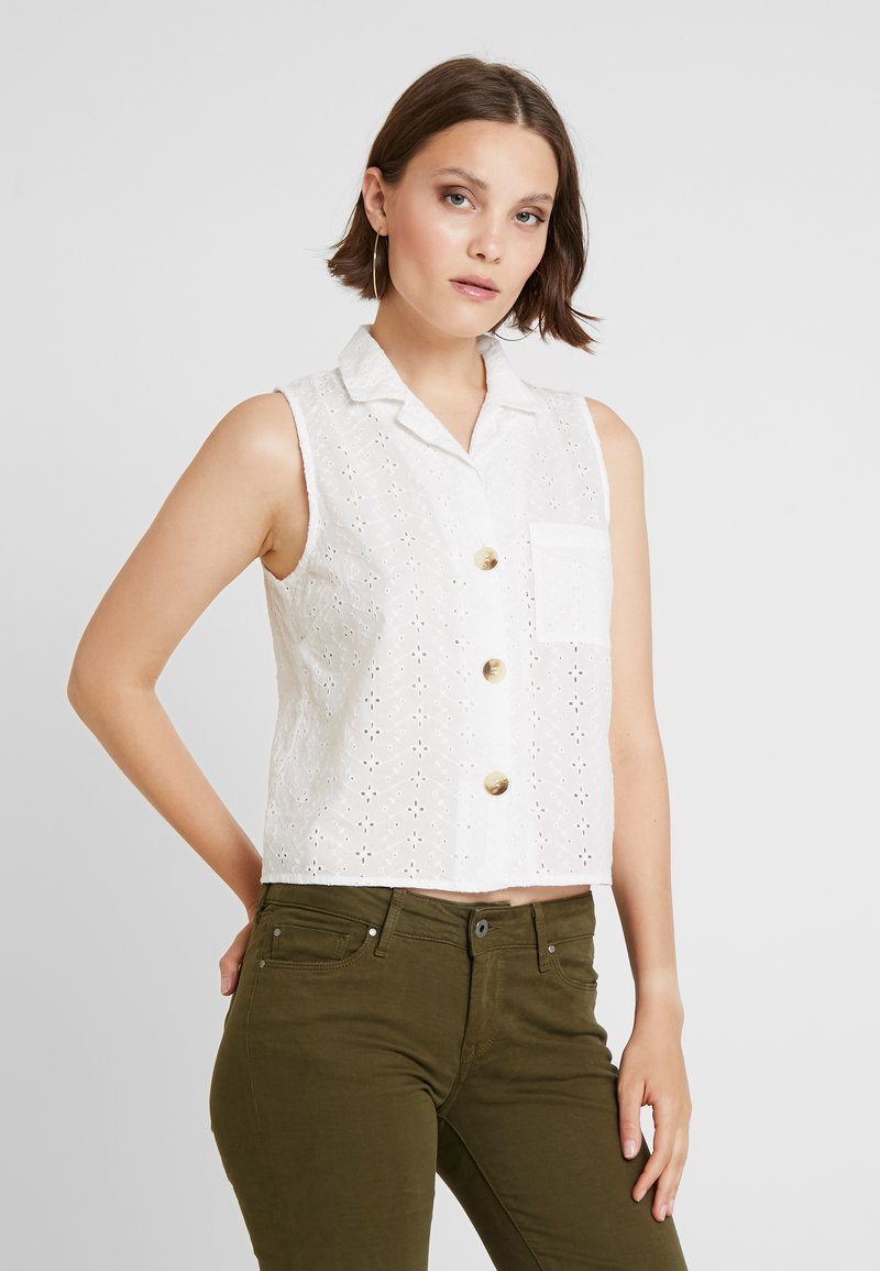 Miss Selfridge - BRODERIE SLEEVELESS - Bluse - white