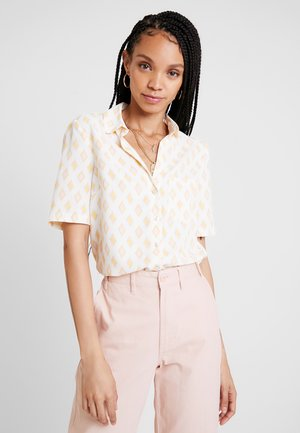 GEO BOXY - Button-down blouse - ivory