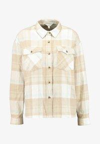 Miss Selfridge - OVERSIZED BOXY CHECK - Skjorta - beige - 4