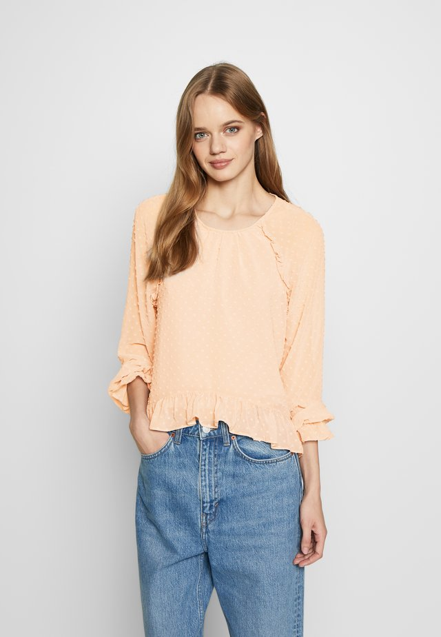 DOBBY SMOCK - Blouse - nude