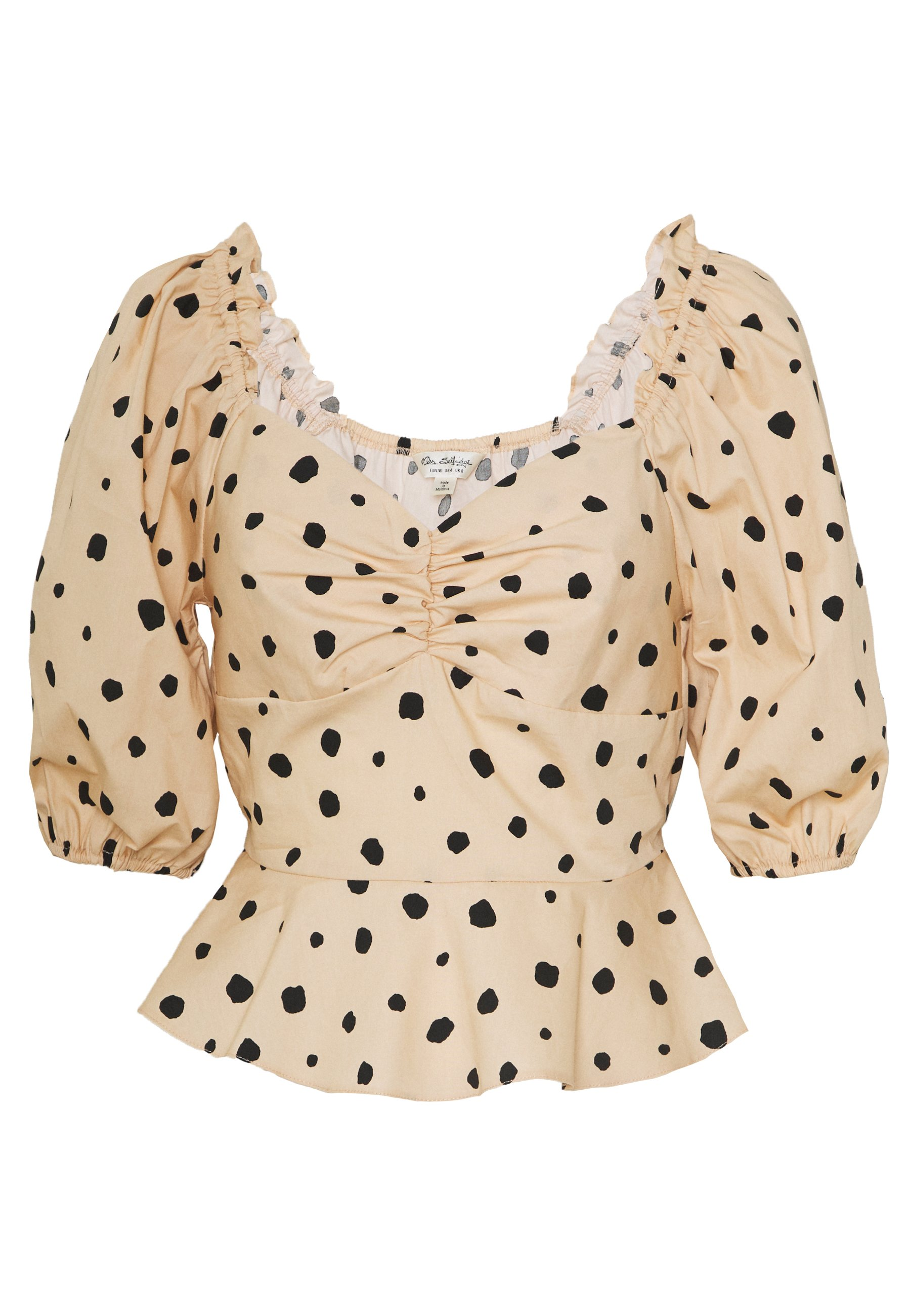 Miss Selfridge BLOUSON SWEETHEARTNON ANIMAL - Camicetta - beige JsEPSrO4