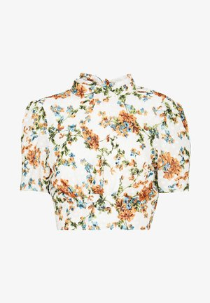 DOBBY FLORAL BLOUSE - Blouse - ivory