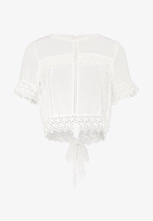 CUTWORK - Blouse - white