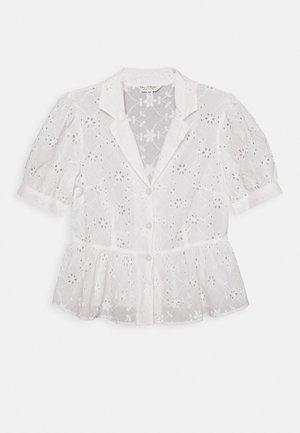 BRODERIE SHORT SLEEVE SHIRT - Blusa - white