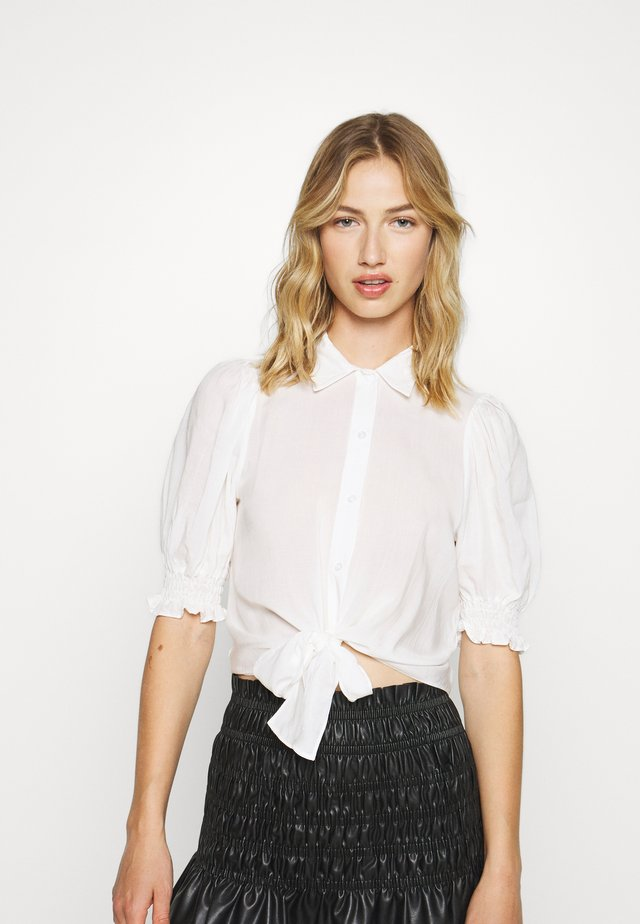 VOILE CROPPED SHIRT - Blouse - ivory