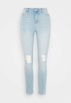 VOILE CROPPED SHIRT - Jeans Skinny Fit - light-blue denim