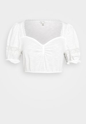 RUCH CROCHET - Basic T-shirt - cream