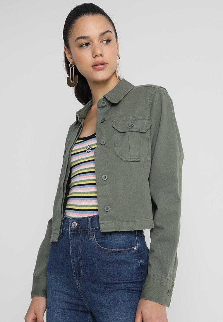 Miss Selfridge - SHACKET - Denim jacket - khaki