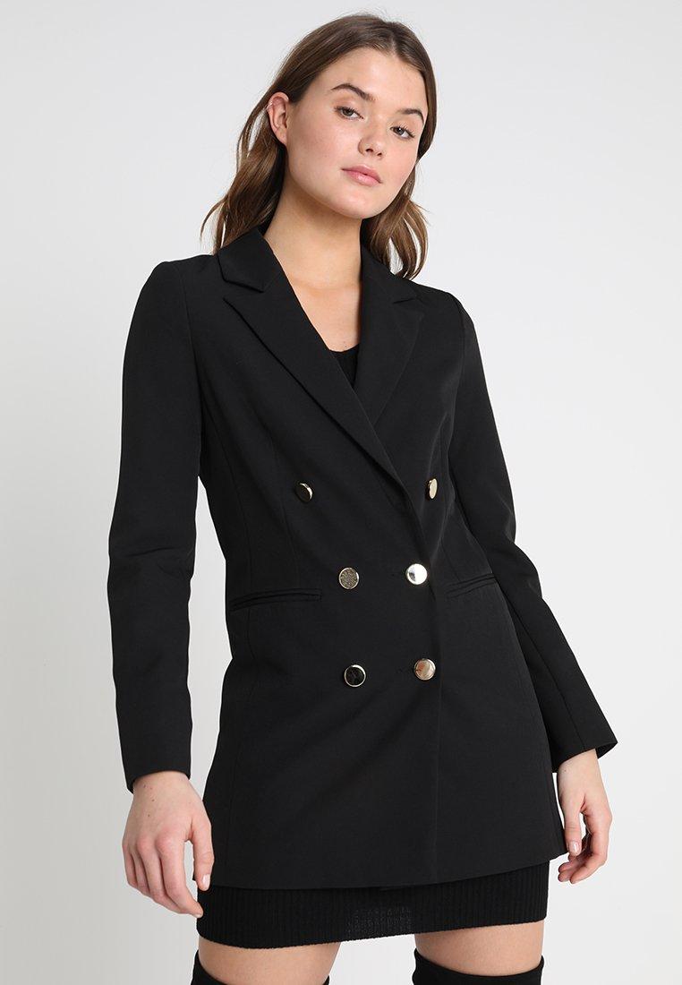 Miss Selfridge - LONGLINE MILITARY JACKET - Cappotto corto - black
