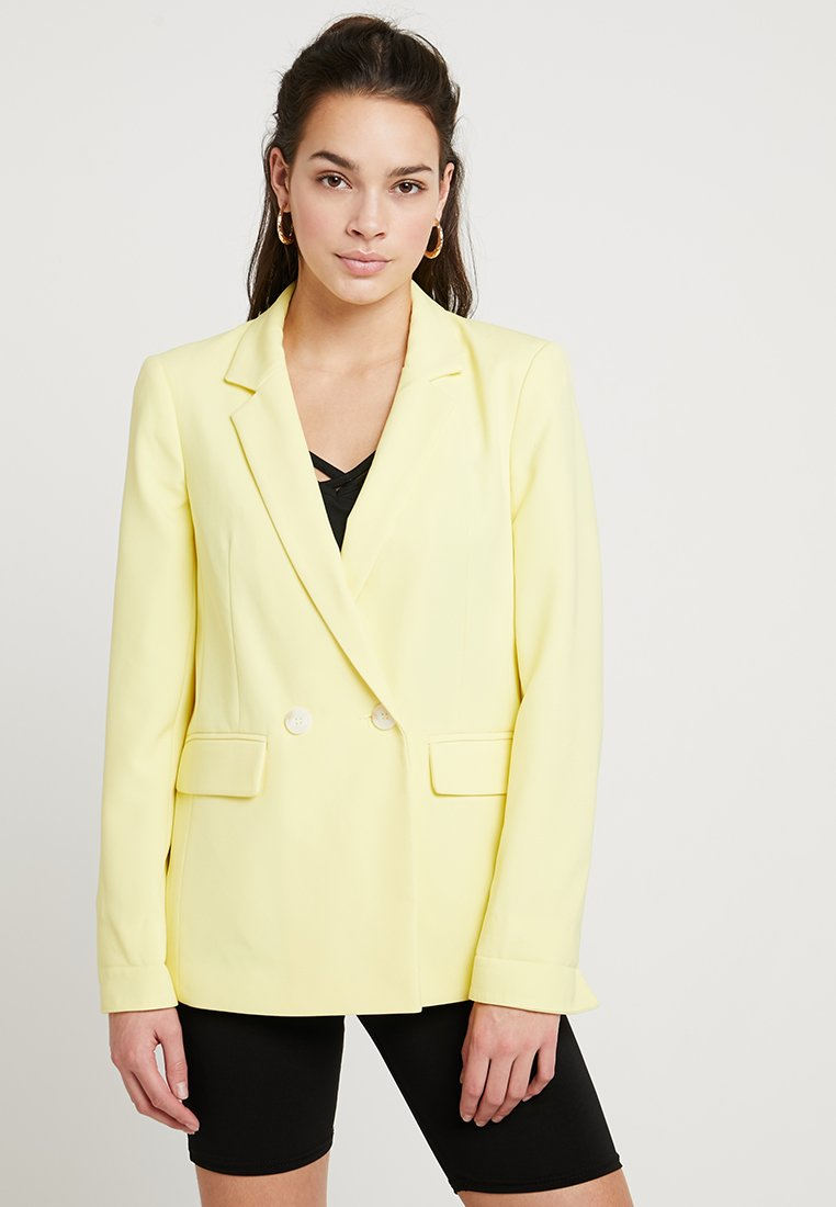 Miss Selfridge - NOTCH SLEEVE - Blazer - lemon