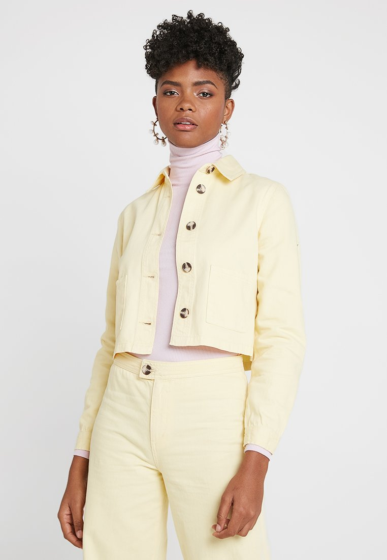 Miss Selfridge - YELLOW DENIM - Denim jacket - yellow