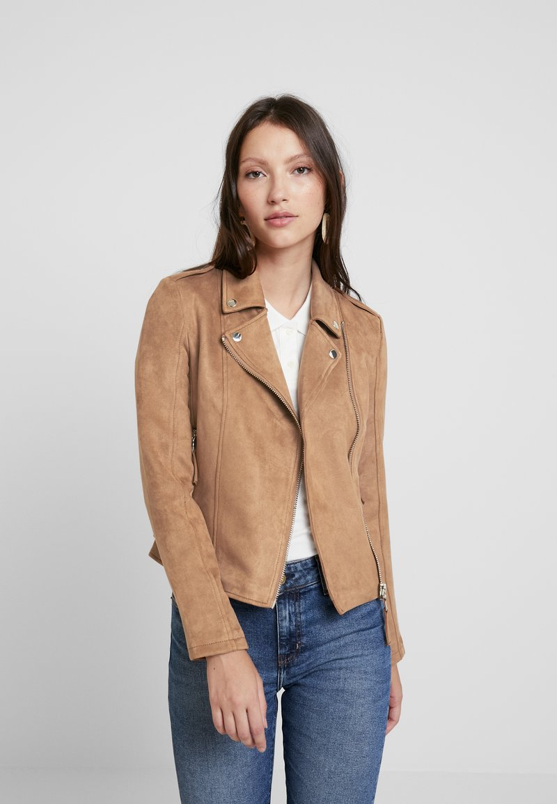 Miss Selfridge - BIKER - Faux leather jacket - tan