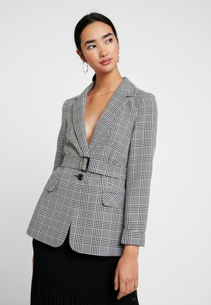MONO CHECK BELT - Manteau court - mono