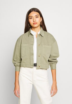 CARGO JACKET WITH YOKE SEAM - Spijkerjas - khaki