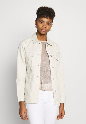 BELTED TWILL JACKET - Denim jacket - ivory