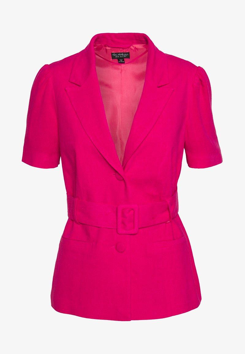 Miss Selfridge - BELTED JACKET - Lehká bunda - hot pink