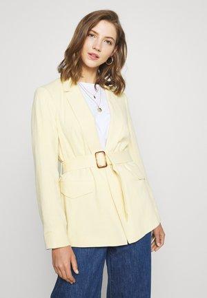 BELTED - Short coat - lemon