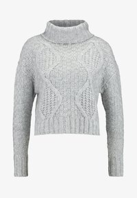 Miss Selfridge - CHUNKY CABLE ROLL NECK - Svetr - grey - 4