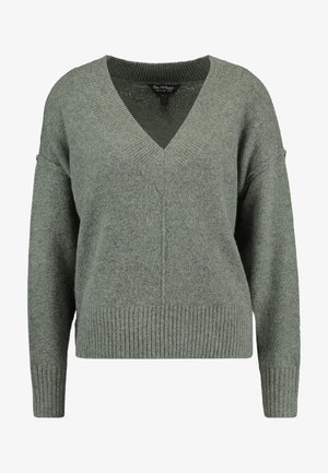 V NECK JUMPER - Trui - khaki