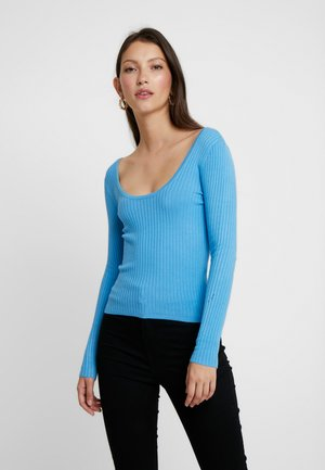 TIE BACK REPEAT - Strickpullover - blue