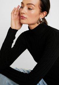 Miss Selfridge - ROLL NECK REPEAT - Jumper - black - 5
