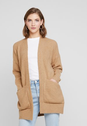 EDGE TO EDGE DELETION LIST - Cardigan - camel