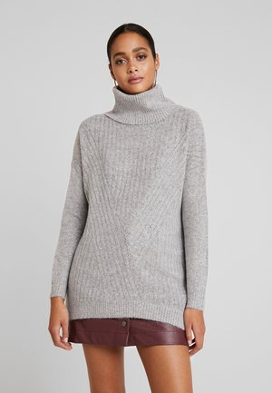 LONGLINE ROLL NECK JUMPER - Svetr - grey
