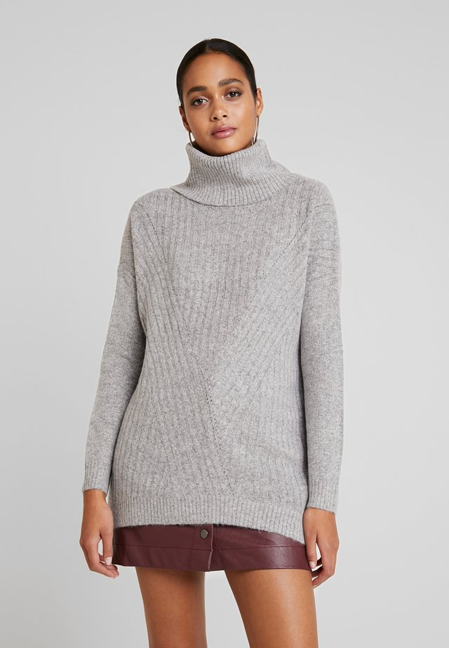 LONGLINE ROLL NECK JUMPER - Strickpullover - grey