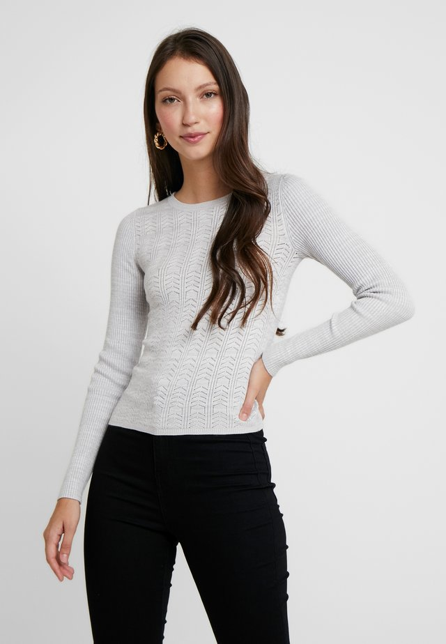 ALL OVER POINTELLE - Jumper - grey exclusive plain