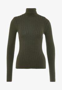 Miss Selfridge - ROLL NECK REPEAT - Stickad tröja - khaki - 3