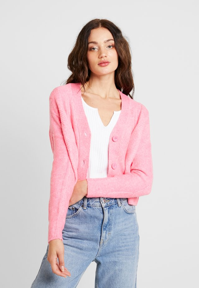 CABLE CARDIGAN - Cardigan - bright pink