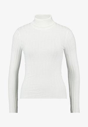 ROLL NECK REPEAT - Stickad tröja - cream
