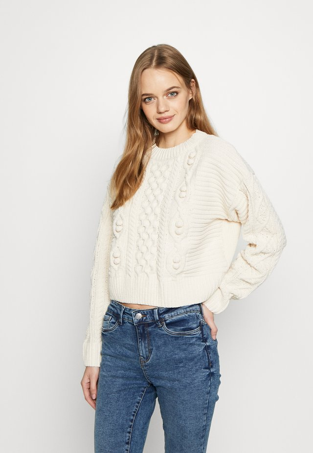 CHENILLE BOBBLE - Jumper - cream