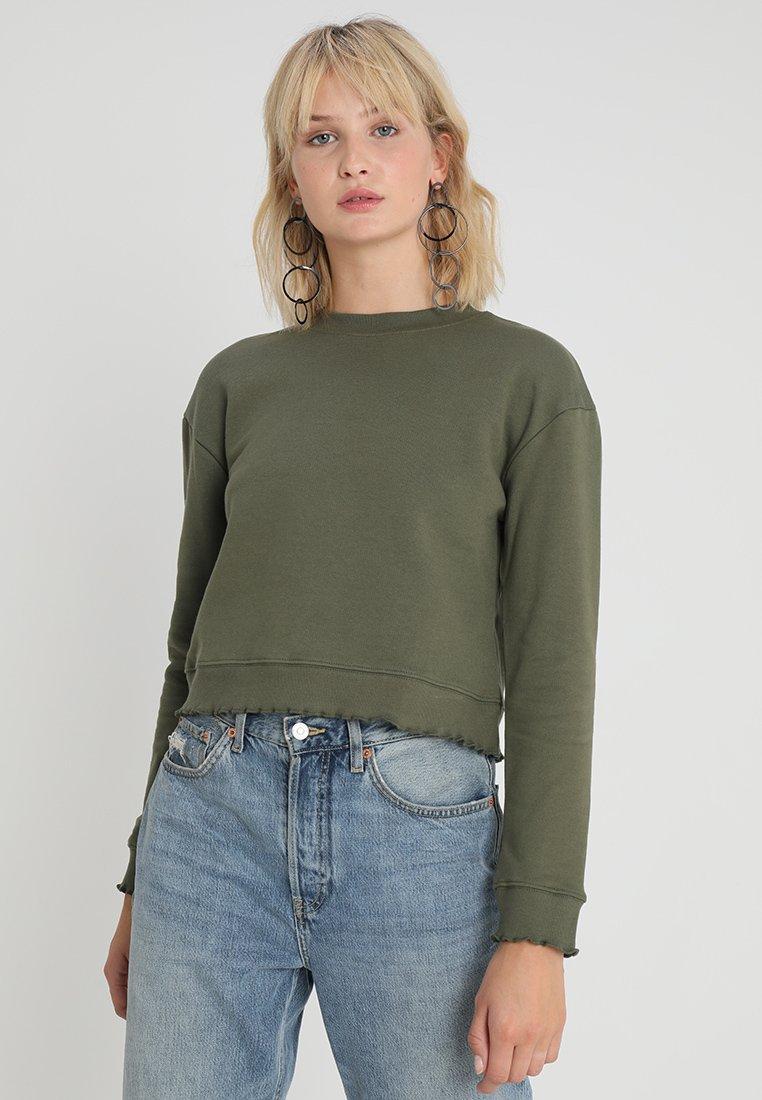 Miss Selfridge - LETTUCE  - Sweatshirt - khaki