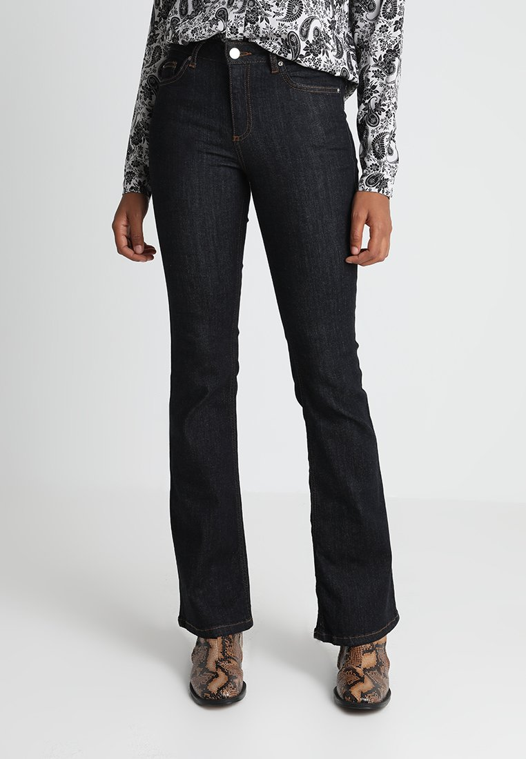 Miss Selfridge - LIZZIE BLUE SKINNY FLARE - Flared jeans - dark-blue denim